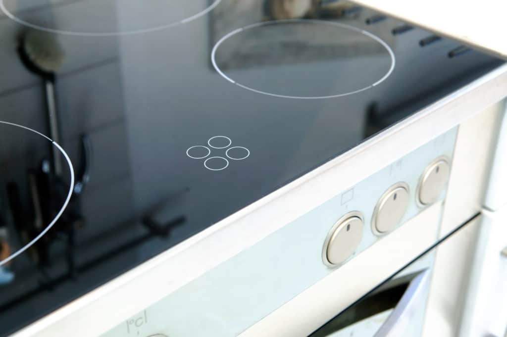 A sparkling clean glass stovetop
